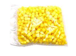 Gele schoefdoppen voor verzendbuizen 13ml per 500st.