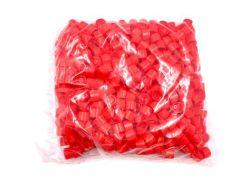 Rode schoefdoppen voor verzendbuizen 13ml per 500st.