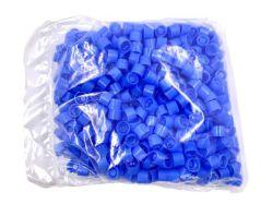 Blauwe schoefdoppen voor verzendbuizen 13ml per 500st.
