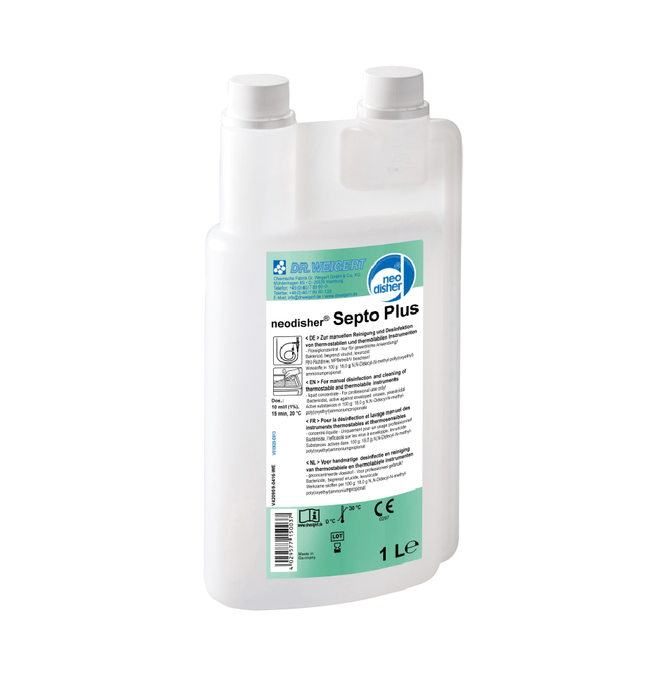 neodisher septo plus 1 liter cleaning and desinfectant for lab instruments