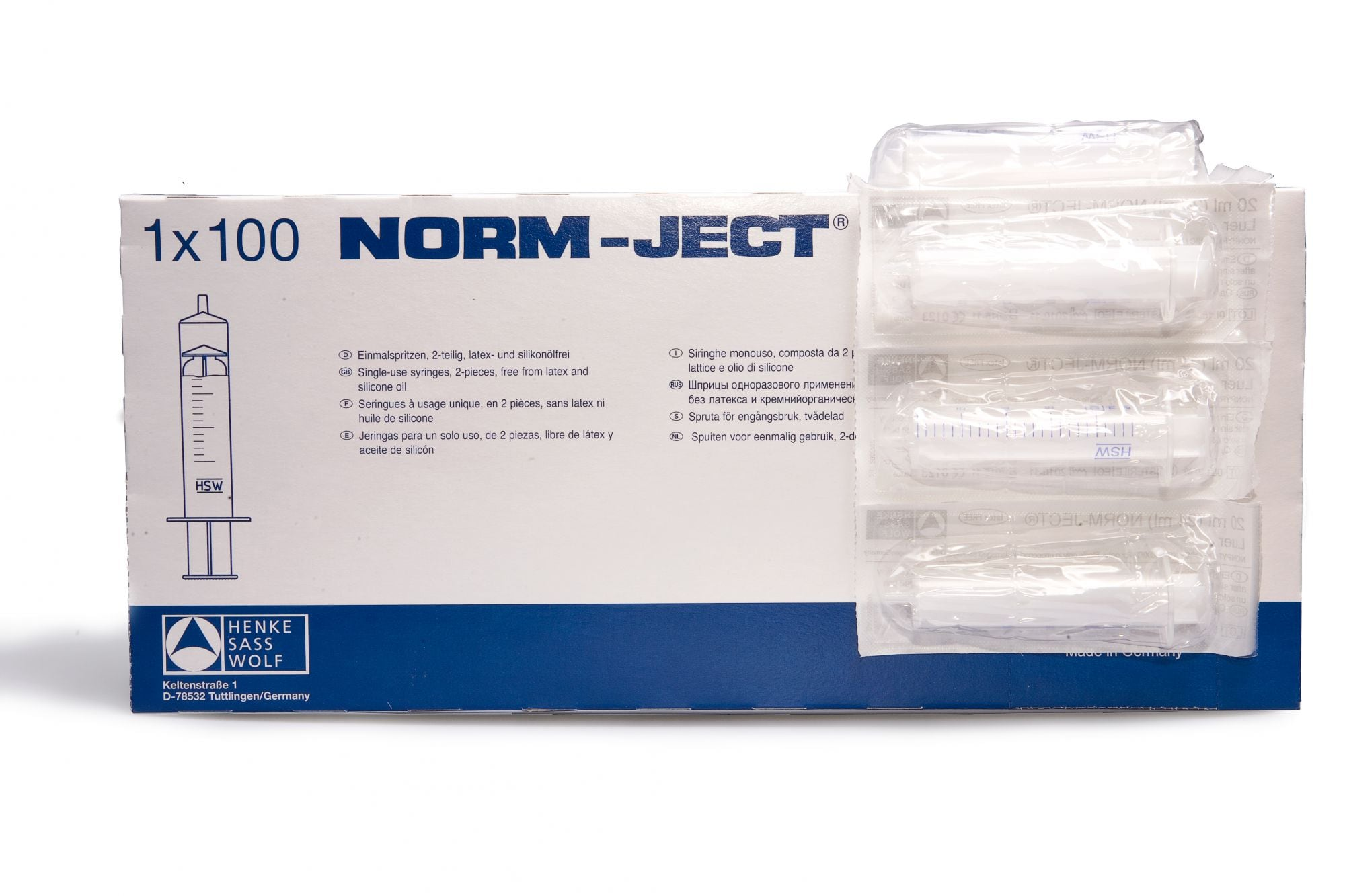syringes 20ml 2part