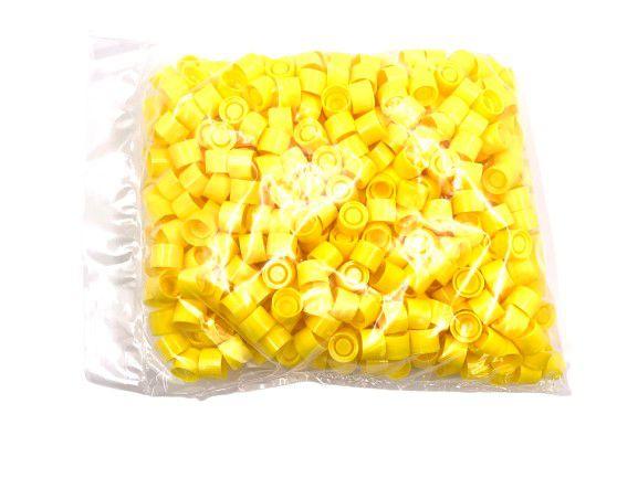 yellow screwcaps for centrifugetubes 13ml per 500pcs
