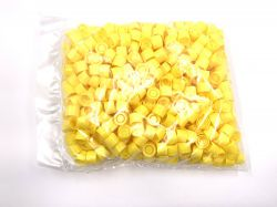 Yellow screwcaps for centrifugetubes 13ml per 500pcs.